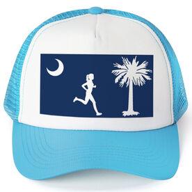 Running Trucker Hat - South Carolina Flag Female Runner