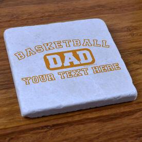 Basketball Dad (Block Logo) - Stone Coaster