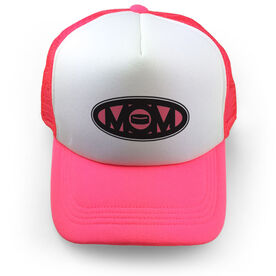 Hockey Trucker Hat Mom Puck
