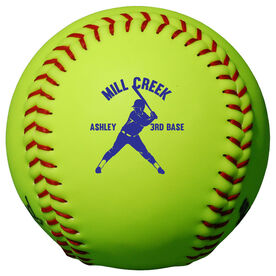 Personalized Softball - Player with Team Name