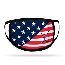 Hockey Adult Face Mask - USA Flag