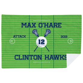 Guys Lacrosse Premium Blanket - Personalized Lacrosse Team