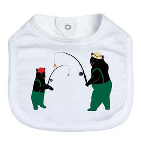 Fly Fishing Baby Bib - Bears
