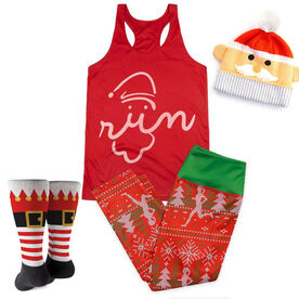 Santa Run Face Running Outfit