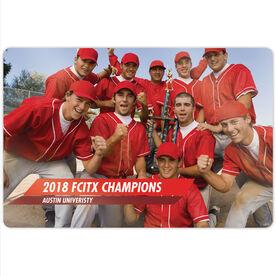 "Baseball 18"" X 12"" Aluminum Room Sign - Classic Horizontal Photo"