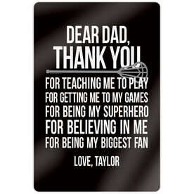 "Lacrosse 18"" X 12"" Aluminum Room Sign - Personalized Dear Dad Lacrosse"