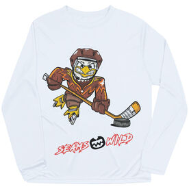 Seams Wild Hockey Long Sleeve Tech Tee - Feather Shot