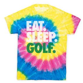 Golf Short Sleeve T-Shirt - Eat. Sleep. Golf Tie Dye