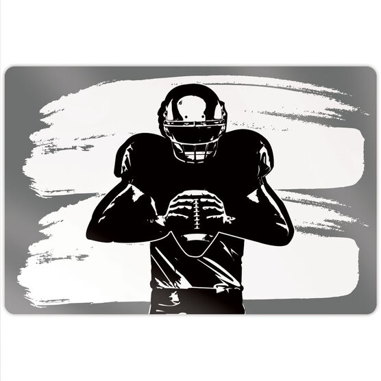 """Football 18"""" X 12"""" Aluminum Room Sign - Ready For Anything"""
