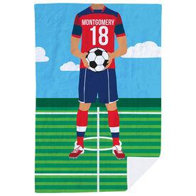Soccer Premium Blanket - Male Soccer Player