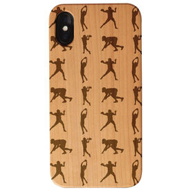 Football Engraved Wood IPhone® Case - Player Pattern
