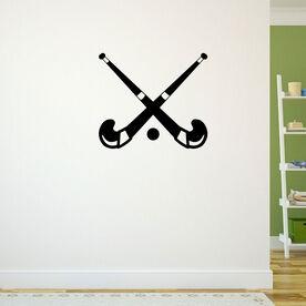 Crossed Field Hockey Sticks Removable ChalkTalkGraphix Wall Decal