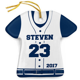 Baseball Porcelain Ornament Personalized Jersey