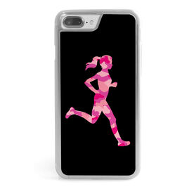 Running iPhone® Case - Camouflage Female Silhouette