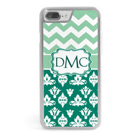 Personalized iPhone® Case - Monogram Chevron Ornaments