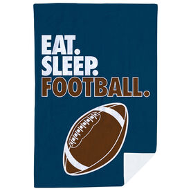 Football Premium Blanket - Eat. Sleep. Football. Vertical