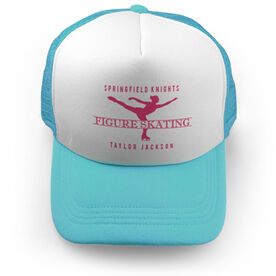 Figure Skating Trucker Hat - Personalized Crest