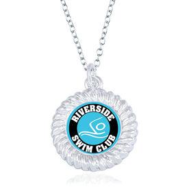 Swimming Braided Circle Necklace - Custom Logo
