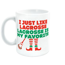 Guys Lacrosse Coffee Mug - Lacrosse's My Favorite