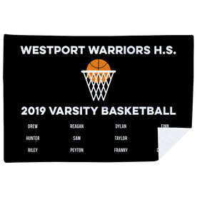 Basketball Premium Blanket - Team Roster
