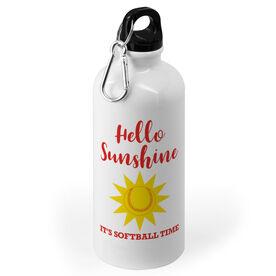 Softball 20 oz. Stainless Steel Water Bottle - Hello Sunshine Its Softball Time