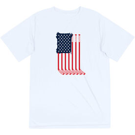 Hockey Short Sleeve Performance Tee - American Flag