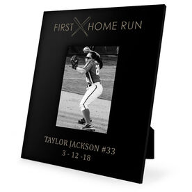 Softball Engraved Picture Frame - First Home Run