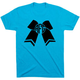 Cheerleading Tshirt Short Sleeve Monogrammed Cheer Bow
