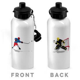 Hockey 20 oz. Stainless Steel Water Bottle - Go For The Goal