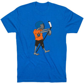 Hockey Tshirt Short Sleeve Hockey Zombie