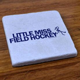 Field Hockey Stone Coaster Little Miss Field Hockey