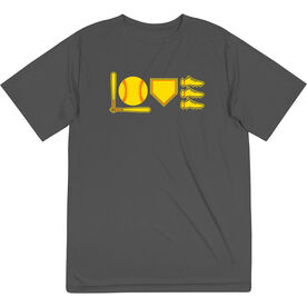 Softball Short Sleeve Performance Tee - Love To Play