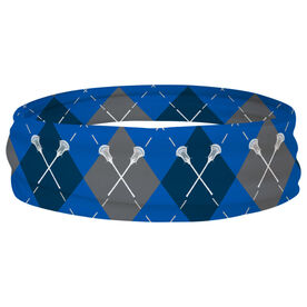 Guys Lacrosse Multifunctional Headwear - Lacrosse Sticks and Argyle Pattern RokBAND