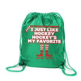 Hockey Sport Pack Cinch Sack - Hockey's My Favorite