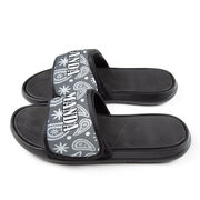 Personalized Repwell® Slide Sandals - Paisley
