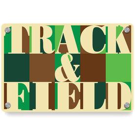 Track and Field Metal Wall Art Panel - Track & Field Mosaic