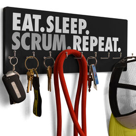 Rugby Hook Board Eat Sleep Scrum Repeat