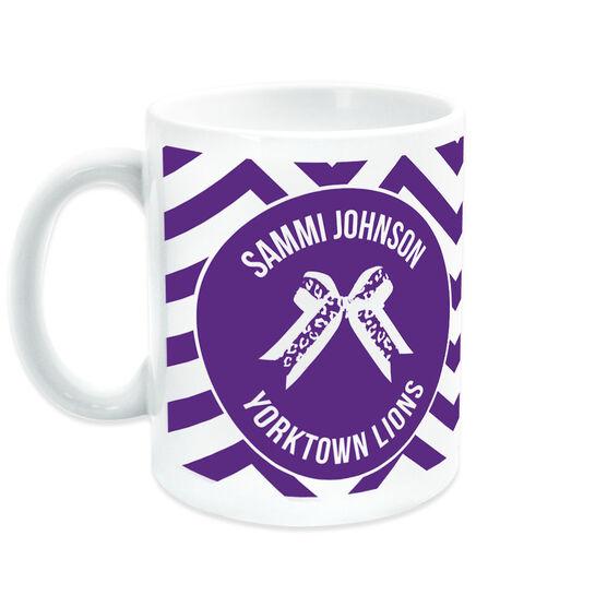 Cheerleading Coffee Mug Personalized Bow