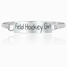 Field Hockey Engraved Clasp Bracelet Field Hockey Girl