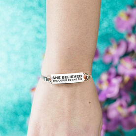 Personalized Engraved Clasp Bracelet Custom Text