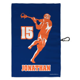 Lacrosse Bag Towels Personalized Jump Shot Silhouette