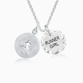Livia Collection Sterling Silver Runner Girl Inspire Necklace