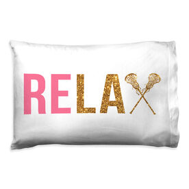 Girls Lacrosse Pillowcase - Relax