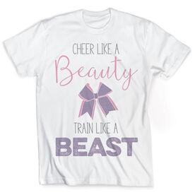 Vintage Cheerleading T-Shirt - Cheer Like A Beauty Train Like A Beast