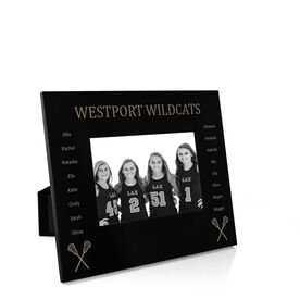 Girls Lacrosse Engraved Picture Frame - Team Name with Roster