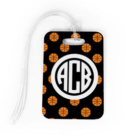 Basketball Bag/Luggage Tag - Personalized Basketball Pattern Monogram