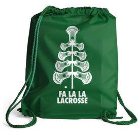 Guys Lacrosse Sport Pack Cinch Sack - Fa La La Tree