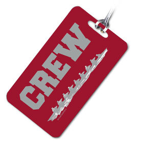 Crew Bag/Luggage Tag Scull Team Red/Gray