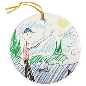 Fly Fishing Porcelain Ornament Your Drawing