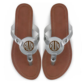 Running Engraved Thong Sandal - Run Monogram Circle